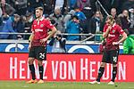 10.03.2018, HDI Arena, Hannover, GER, 1.FBL, Hannover 96 vs FC Augsburg<br /> <br /> im Bild<br /> Niclas F&uuml;llkrug / Fuellkrug (Hannover 96 #24), Iver Fossum (Hannover 96 #18) entt&auml;uscht / enttaeuscht, niedergeschlagen nach Spielende, <br /> <br /> Foto &copy; nordphoto / Ewert