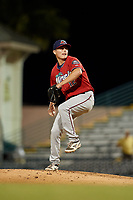 Fort Myers Miracle relief pitcher Calvin Faucher (12) during a Florida State League game against the Bradenton Marauders on April 23, 2019 at LECOM Park in Bradenton, Florida.  Fort Myers defeated Bradenton 2-1.  (Mike Janes/Four Seam Images)