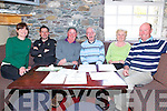 Carrie Sheridan from Beaufort, Timmy Lyne from Beaufort, Tadgh Mc Carthy from Killarney, Eamon Reidy from Beaufort, Helen Clifford from Beaufort and Pat Tagney from Beaufort at the Fundraiser for the Beaufort Golf Club Mens Branch last Friday morning.