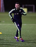 Leon britton of Swansea training