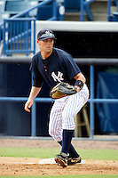 GCL Yankees Austin Jones #14 during a Gulf Coast League game against the GCL Phillies at Legends Field on July 17, 2012 in Tampa, Florida.  GCL Phillies defeated the GCL Yankees 4-2.  (Mike Janes/Four Seam Images)