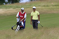 Whee Kim (KOR) waits to play his 2nd shot from the fescue on the 11th hole during Saturday's Round 3 of the 117th U.S. Open Championship 2017 held at Erin Hills, Erin, Wisconsin, USA. 17th June 2017.<br /> Picture: Eoin Clarke | Golffile<br /> <br /> <br /> All photos usage must carry mandatory copyright credit (&copy; Golffile | Eoin Clarke)