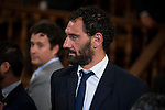 "Spanish basketball player Jorge Garbajosa attends to the ceremony of the ""Camino Real"" award to NBA spanish basketball player Pau Gasol at Alcala de Henares University in Madrid, July 15. 2015.<br />  (ALTERPHOTOS/BorjaB.Hojas)"