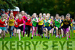 Competitors in the u10 girls race take off at the Kerry Juvenile Cross Country championships in Killarney on Sunday