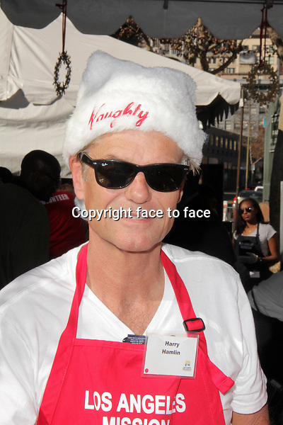 LOS ANGELES, CA - December 24: Harry Hamlin at The Los Angeles Mission Christmas Eve Celebration, Los Angeles Mission, Los Angeles, December 24, 2013. .<br />
