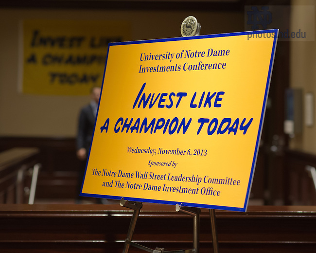 Nov. 6, 2013; 2013 Notre Dame Investment Conference, New York City.<br /> <br /> Photo by Matt Cashore/University of Notre Dame