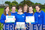 Transformation Year students who were honoured for their work at the St Bridgid's Secondary Killarney annual awards in the school gym on Thursday l-r:  Renata Dojnikowska, Zoe McHale, Louise O'Donoghue, Zoe O'Sullivan, Claire Moynihan and Sinead Nagle