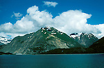 AK: Glacier Bay National Park, Alaska, Margerie Glacier    .Photo Copyright: Lee Foster, lee@fostertravel.com, www.fostertravel.com, (510) 549-2202.Image: akglac219