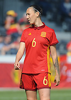 20170408 - EUPEN ,  BELGIUM : Spanish Virginia Torrecilla  pictured during the female soccer game between the Belgian Red Flames and Spain , a friendly game before the European Championship in The Netherlands 2017  , Saturday 8 th April 2017 at Stadion Kehrweg  in Eupen , Belgium. PHOTO SPORTPIX.BE | DIRK VUYLSTEKE