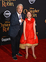 Jim Cummings &amp; Bronte Carmichael at the world premiere of Disney's &quot;Christopher Robin&quot; at Walt Disney Studios, Burbank, USA 30 July 2018<br /> Picture: Paul Smith/Featureflash/SilverHub 0208 004 5359 sales@silverhubmedia.com