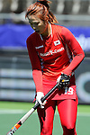 The Hague, Netherlands, June 13: Sunsoon Oh #19 of Korea looks on during the field hockey placement match (Women - Place 7th/8th) between Korea and Germany on June 13, 2014 during the World Cup 2014 at Kyocera Stadium in The Hague, Netherlands. Final score 4-2 (2-0)  (Photo by Dirk Markgraf / www.265-images.com) *** Local caption ***