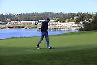 Former NFL quarterback Peyton Manning on the 5th green at Pebble Beach Golf Links during Saturday's Round 3 of the 2017 AT&amp;T Pebble Beach Pro-Am held over 3 courses, Pebble Beach, Spyglass Hill and Monterey Penninsula Country Club, Monterey, California, USA. 11th February 2017.<br /> Picture: Eoin Clarke | Golffile<br /> <br /> <br /> All photos usage must carry mandatory copyright credit (&copy; Golffile | Eoin Clarke)