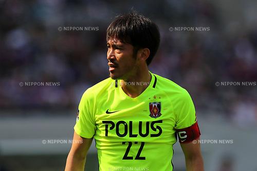 Yuki Abe (Reds), <br /> APRIL 16, 2017 - Football / Soccer : <br /> 2017 J1 League match between F.C. Tokyo 0-1 Urawa Reds <br /> at Ajinomoto Stadium, Tokyo, Japan. <br /> (Photo by AFLO SPORT)