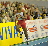 Photo: Ady Kerry/Richard Lane Photography.. Aviva European Trials and UK Championships, 15/02/2009..Rion Pierre in the 200m heats.