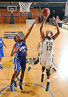 Florida International University forward Diamond Ashmore (13) plays against Lynn University.  FIU won the game 68-30 on November 30, 2011 at Miami, Florida. .