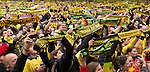 200000 fans serenade for Dede (professional football player Leonardo de Deus Santos) because of his farewell. - In Dortmund fans celebrated a gigantic party because of the title win of their favorite soccer club BVB 09 in the German Premium League.