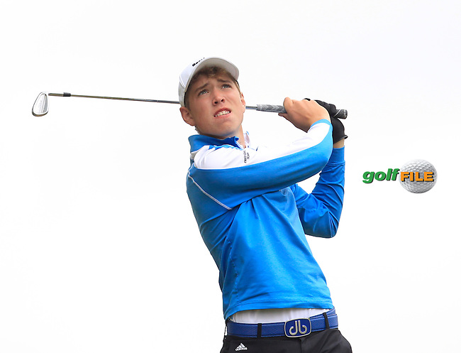 Mikey Burke (Galway) on the 7th tee during Round 2 of the Irish Boys Amateur Open Championship at Tuam Golf Club on Wednesday 24th June 2015.<br /> Picture:  Thos Caffrey / www.golffile.ie
