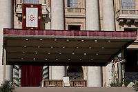 La sedia del Papa nella Basilica di San Pietro
