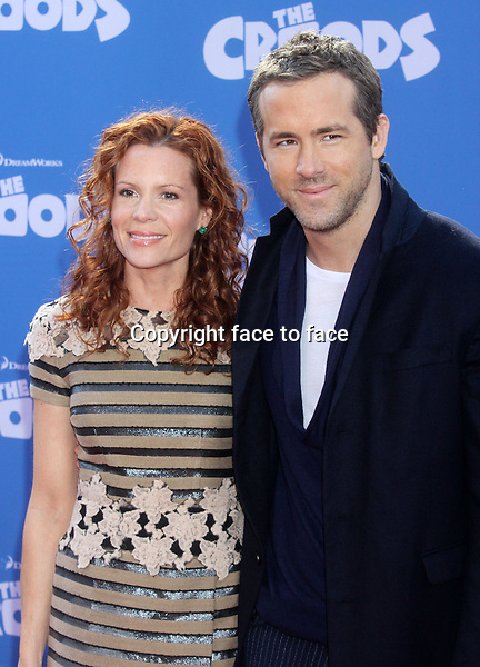 "Ryan Reynolds and sister-in-law Robyn Lively attend the premiere of ""The Croods"" at AMC Loews Lincoln Square in New York, 10.03.2013...Credit: Rolf Mueller/face to face"
