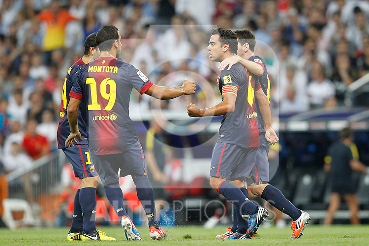 F.C. Barcelona's Lionel Messi goal during Spanish Supercup 2nd match on august 29 2012...Photo: Cesar Cebolla / ALFAQUI