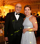 """020318MK05 (from left)  Selim Noujaim and Carne Fuller-McMahon recently gathered at the Saint Mary's Hospital Foundation held its 27th Annual Gala, """"A Night at Studio 54,"""" at the Aqua Turf Club in Plantsville. Michael Kabelka Republican - American."""