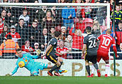 5th November 2017, Riverside Stadium, Middlesbrough, England; EFL Championship football, Middlesbrough versus Sunderland; Robbin Ruiter of Sunderland makes a great save to deny Martin Braithwaite of Middlesbrough in the second half to keep it 1-0