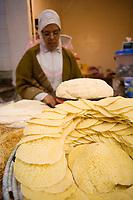 Afrique/Afrique du Nord/Maroc/Rabat: étal de sur le marché central feuilles de pastilla