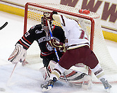 Chris Rawlings (NU - 37), Cam Atkinson (BC - 13) - The Boston College Eagles defeated the Northeastern University Huskies 5-1 on Saturday, November 7, 2009, at Conte Forum in Chestnut Hill, Massachusetts.