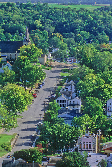 Picturesque Lanesboro, Minnesota, a former rail center in Southeastern Minnesota, now thrives as an art, tourism and bicylcling mecca.