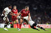Sam Burgess of England is tackled by Gabiriele Lovobalavu of Fiji. Rugby World Cup Pool A match between England and Fiji on September 18, 2015 at Twickenham Stadium in London, England. Photo by: Patrick Khachfe / Onside Images