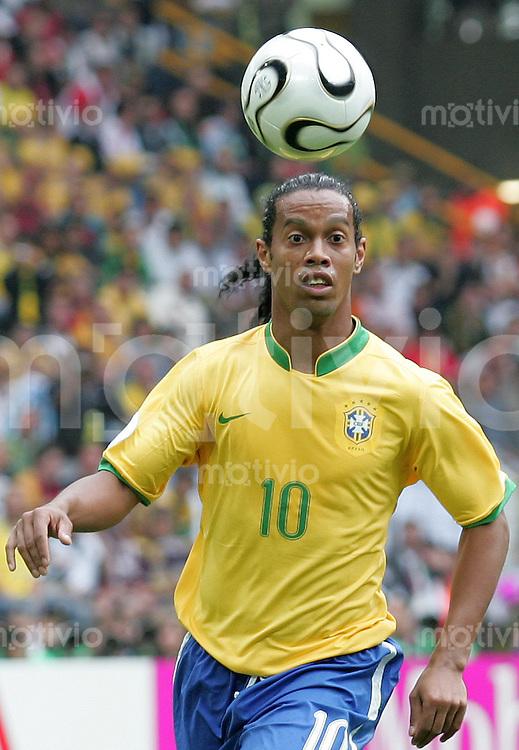 Fussball WM 2006  Achtelfinale  Brasilien - Ghana Ronaldinho (BRA)