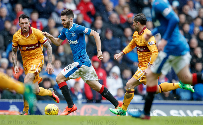 Jon Toral on the attack for Rangers