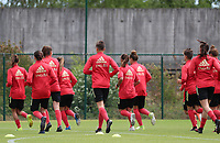 20200605 - TUBIZE , Belgium : Red Flames pictured during a training session of the Belgian national women's soccer team called the Red Flames during their after Corona – Covid training week, on the 5 th of June 2020 in Tubize.  PHOTO SEVIL OKTEM| SPORTPIX.BE