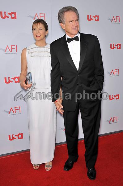 12 June 2008 - Hollywood, California - Warren Beatty and Annette Bening. 36th AFI Life Achievement Award tribute to Warren Beatty held at the Kodak Theatre. Photo Credit: Jaguar/AdMedia