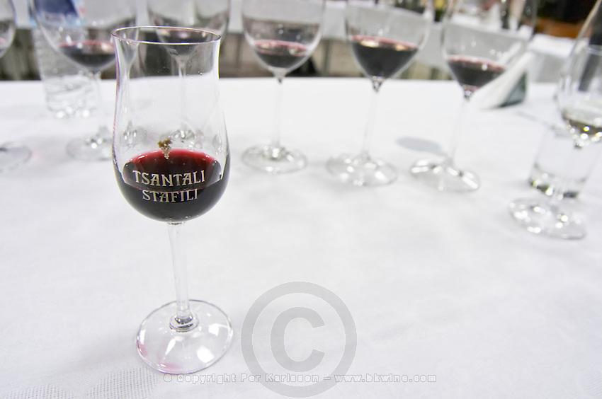 Wine tasting. Tsantali Vineyards & Winery, Halkidiki, Macedonia, Greece.