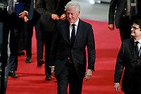 Bill Clinton <br /> STRASBOURG, FRANCE - JULY 01: The coffin holding the remains of former German Chancellor Helmut Kohl draped by the European flag is carried to the memorial ceremony at the European Parliament on July 1, 2017 in Strasbourg, France. Kohl was chancellor of Germany for 16 years and led the country from the Cold War through to reunification. He died on June 16 at the age of 87<br /> Foto Elyxandro Cegarra / Panoramic / Insidefoto <br /> ITALY ONLY