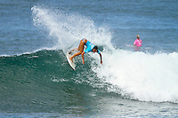 Alessa Quizon (HAW).  Haleiwa Hawaii, (Tuesday November 16, 2010) .Haleiwa Ali'i Beach Park  turned on 3' surf for the second day of the 2010 Vans Triple Crown of Surfing.  The Round one and two of the women's Cholos Women's Hawaiian Pro was completed today, along with the second of three heats of four of professional surfing all-time world champions in the REEF Clash of the Legends: Tom Curren (USA), Tom Carroll (Australia), Sunny Garcia (Hawaii), and Mark Occhilupo (Australia). ..Photo: joliphotos.com
