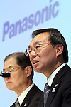 October 31, 2016, Tokyo, Japan - Japanese electronics giant Panasonic president Kazuhiro Tsuga announces the company's first half financial result at Panasonic's Tokyo office on Monday, October 31, 2016. Panasonic said the company's full year earnings forecast would be downward by strong yen.   (Photo by Yoshio Tsunoda/AFLO) LWX -ytd-