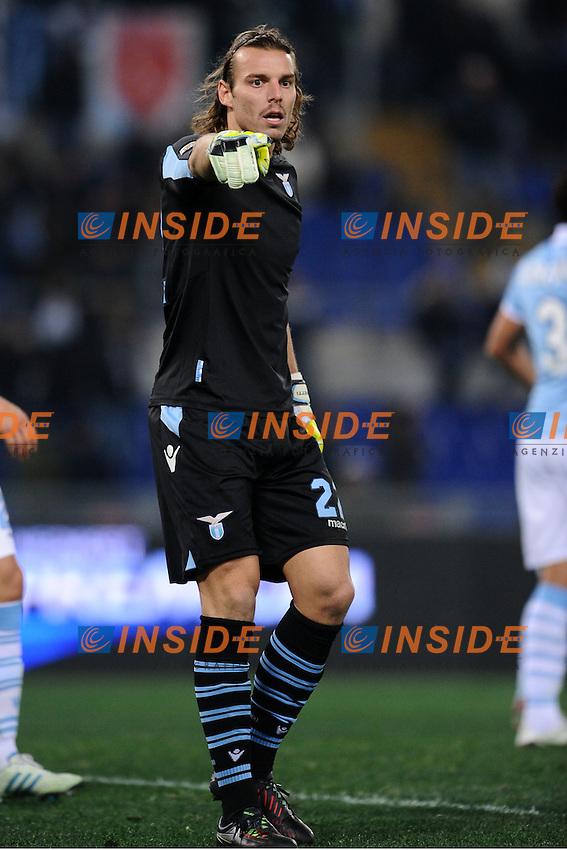 Federico Marchetti Lazio.26/01/2013 Roma.Stadio Olimpico.Football Calcio 2012 / 2013 .Campionato di Calcio Serie A.Lazio vs Chievo.Foto Insidefoto / Antonietta Baldassarre.