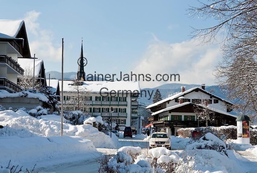 Germany, Bavaria, Upper Bavaria, Tegernseer Valley, Winter at Lake Tegern, Rottach-Egern: 5-stars-Hotel Bachmair am See