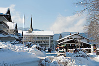 Germany, Bavaria, Upper Bavaria, Tegernseer Valley, Winter at Lake Tegern, Rottach-Egern: 5-stars-Hotel Bachmair am See