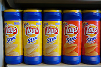 Lay's Stax potato chips are seen in a Metro grocery store in Quebec city March 4, 2009.