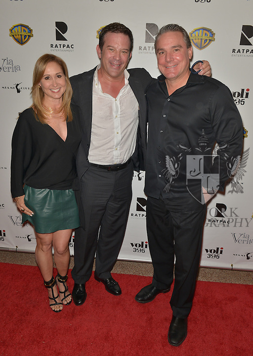 CORAL GABLES, FL - FEBRUARY 28: Maria Beveridge, Victor Barroso and Brett Beveridge attend the Miami Premiere of RatPac Documentary Films One Day Since Yesterday: Peter Bogdanovich and the Lost American Film' followed by Q&A at Miracle Theater inside the Actors Playhouse on February 28, 2017 in Coral Gables, Florida. ( Photo by Johnny Louis / jlnphotography.com )