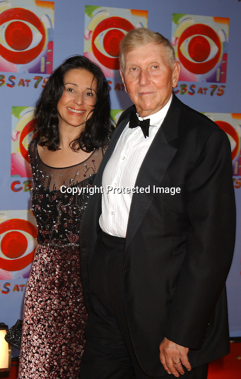 ..Paula and Sumner Redstone..at CBS's 75th Anniversary at The Hammerstein Ballroom in ..New York City on November 2, 2003. Photo by Robin Platzer, Twin Images