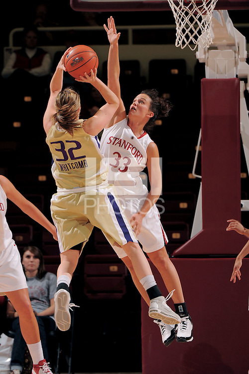 Stanford, CA - JANUARY 8:  Forward Jillian Harmon #33 of the Stanford Cardinal during Stanford's 112-35 win against the Washington Huskies on January 8, 2009 at Maples Pavilion in Stanford, California.