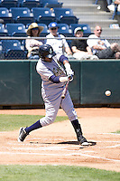 Eugene Emeralds first baseman Daniel Garce #14 at bat during a game against the Everett AquaSox at Everett Memorial Stadium on June 26, 2011 in Everett, WA.  Eugene defeated Everett 14-4.  (Ronnie Allen/Four Seam Images)