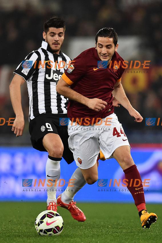 Alvaro Morata Juventus, Kostantinos Manolas Roma <br /> Roma 02-03-2015 Stadio Olimpico Football Calcio Serie A AS Roma - Juventus. Foto Andrea Staccioli / Insidefoto