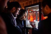 Gem Palace director Siddharth Kasliwal (2nd from right) and other guests admire Argyle pink diamond jewellery by Nirav Modi at the OzFest Gala Dinner in the Jaipur City Palace, in Rajasthan, India on 10 January 2013. Photo by Suzanne Lee