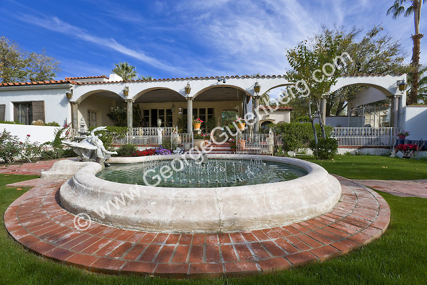 Stock photo of Patio and Fountain of Casa Liberace