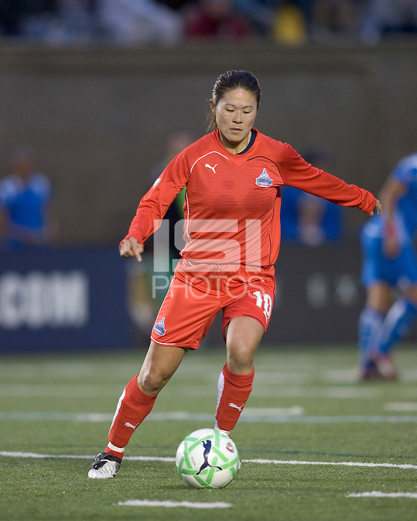 Washington Freedom midfielder Homare Sawa (10). The Boston Breakers tied the Washington Freedom, 1-1, at Harvard Stadium on May 17, 2009.